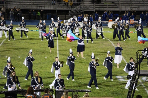 Senior Recognition Night, Raider Band, Cheerleader s Sports Stadium, Tamaqua, 11-6-2015 (280)