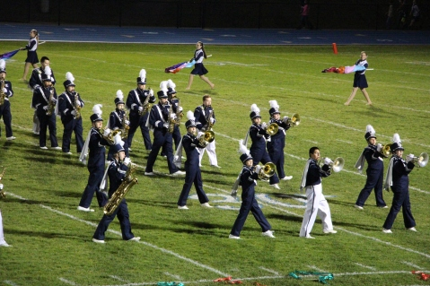 Senior Recognition Night, Raider Band, Cheerleader s Sports Stadium, Tamaqua, 11-6-2015 (283)