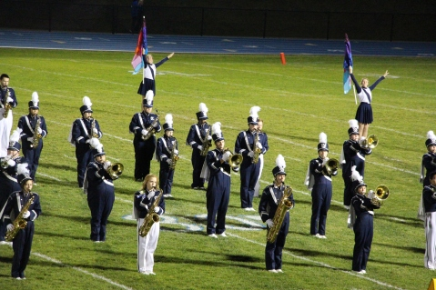 Senior Recognition Night, Raider Band, Cheerleader s Sports Stadium, Tamaqua, 11-6-2015 (291)