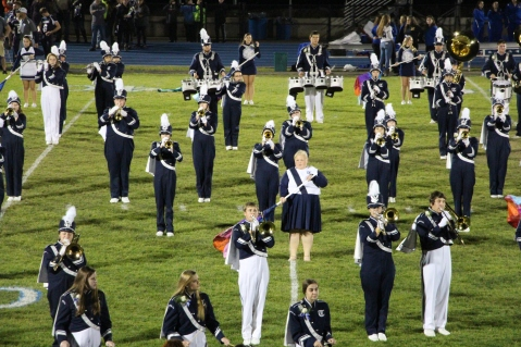 Senior Recognition Night, Raider Band, Cheerleader s Sports Stadium, Tamaqua, 11-6-2015 (302)