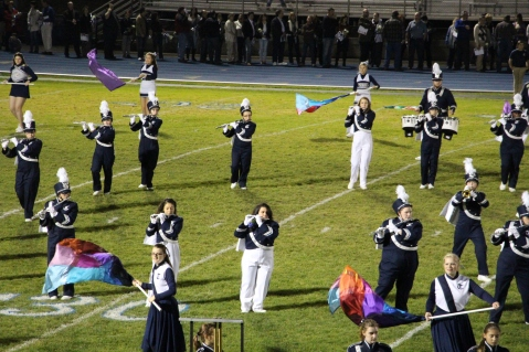Senior Recognition Night, Raider Band, Cheerleader s Sports Stadium, Tamaqua, 11-6-2015 (313)