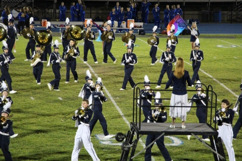 Senior Recognition Night, Raider Band, Cheerleader s Sports Stadium, Tamaqua, 11-6-2015 (316)