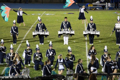 Senior Recognition Night, Raider Band, Cheerleader s Sports Stadium, Tamaqua, 11-6-2015 (362)