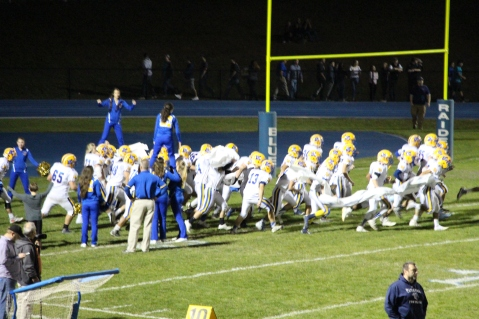 Senior Recognition Night, Raider Band, Cheerleader s Sports Stadium, Tamaqua, 11-6-2015 (381)