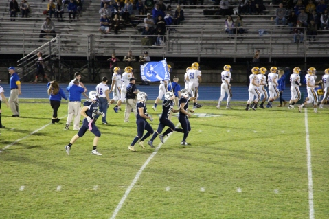 Senior Recognition Night, Raider Band, Cheerleader s Sports Stadium, Tamaqua, 11-6-2015 (417)