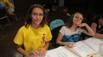 Stephen Bennett, Kids Portrait Painting Workshop, Community Arts Center, Tamaqua, 9-29-2015 (10)