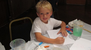 Stephen Bennett, Kids Portrait Painting Workshop, Community Arts Center, Tamaqua, 9-29-2015 (13)