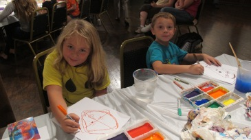Stephen Bennett, Kids Portrait Painting Workshop, Community Arts Center, Tamaqua, 9-29-2015 (14)