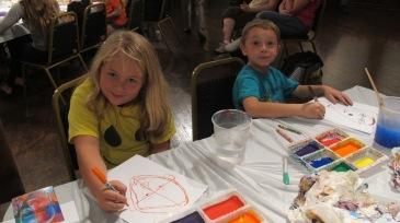 Stephen Bennett, Kids Portrait Painting Workshop, Community Arts Center, Tamaqua, 9-29-2015 (14)