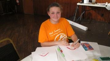 Stephen Bennett, Kids Portrait Painting Workshop, Community Arts Center, Tamaqua, 9-29-2015 (19)