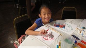 Stephen Bennett, Kids Portrait Painting Workshop, Community Arts Center, Tamaqua, 9-29-2015 (20)
