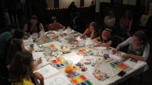 Stephen Bennett, Kids Portrait Painting Workshop, Community Arts Center, Tamaqua, 9-29-2015 (22)