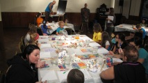 Stephen Bennett, Kids Portrait Painting Workshop, Community Arts Center, Tamaqua, 9-29-2015 (25)