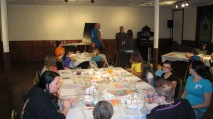 Stephen Bennett, Kids Portrait Painting Workshop, Community Arts Center, Tamaqua, 9-29-2015 (26)