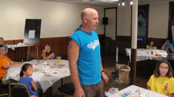 Stephen Bennett, Kids Portrait Painting Workshop, Community Arts Center, Tamaqua, 9-29-2015 (4)