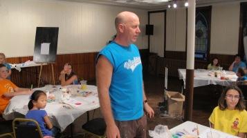 Stephen Bennett, Kids Portrait Painting Workshop, Community Arts Center, Tamaqua, 9-29-2015 (4)