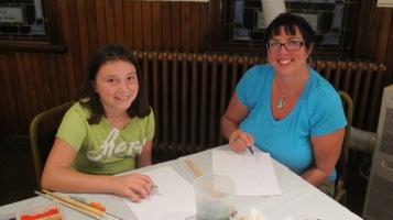 Stephen Bennett, Kids Portrait Painting Workshop, Community Arts Center, Tamaqua, 9-29-2015 (6)