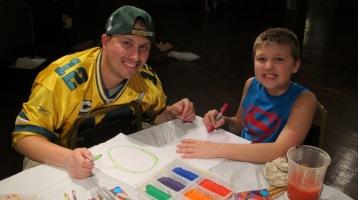 Stephen Bennett, Kids Portrait Painting Workshop, Community Arts Center, Tamaqua, 9-29-2015 (7)