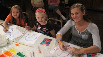 Stephen Bennett, Kids Portrait Painting Workshop, Community Arts Center, Tamaqua, 9-29-2015 (9)
