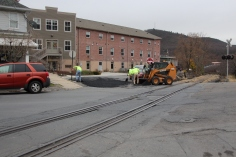 Tamaqua, Borough Street Department, Fixing Roads, Tamaqua, 11-18-2015 (2)
