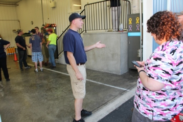 Tamaqua Salvation Army Youth Group Visits South Ward Fire Company, Tamaqua, 10-8-2015 (10)