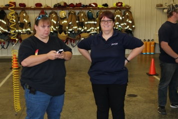 Tamaqua Salvation Army Youth Group Visits South Ward Fire Company, Tamaqua, 10-8-2015 (11)