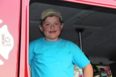 Tamaqua Salvation Army Youth Group Visits South Ward Fire Company, Tamaqua, 10-8-2015 (18)