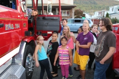 Tamaqua Salvation Army Youth Group Visits South Ward Fire Company, Tamaqua, 10-8-2015 (19)