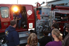 Tamaqua Salvation Army Youth Group Visits South Ward Fire Company, Tamaqua, 10-8-2015 (2)