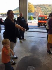 Tamaqua Salvation Army Youth Group Visits South Ward Fire Company, Tamaqua, 10-8-2015 (203)