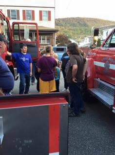 Tamaqua Salvation Army Youth Group Visits South Ward Fire Company, Tamaqua, 10-8-2015 (205)