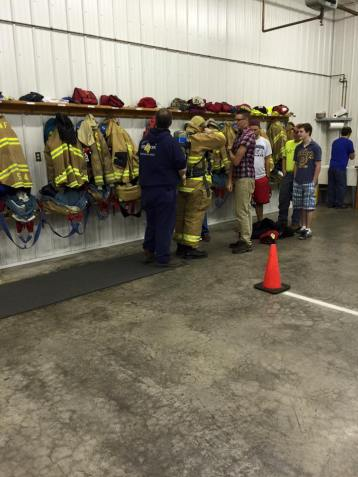 Tamaqua Salvation Army Youth Group Visits South Ward Fire Company, Tamaqua, 10-8-2015 (211)