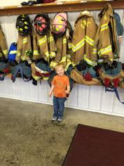 Tamaqua Salvation Army Youth Group Visits South Ward Fire Company, Tamaqua, 10-8-2015 (213)