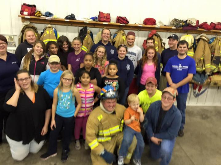 Tamaqua Salvation Army Youth Group Visits South Ward Fire Company, Tamaqua, 10-8-2015 (219)