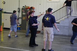 Tamaqua Salvation Army Youth Group Visits South Ward Fire Company, Tamaqua, 10-8-2015 (22)
