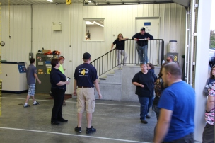 Tamaqua Salvation Army Youth Group Visits South Ward Fire Company, Tamaqua, 10-8-2015 (23)