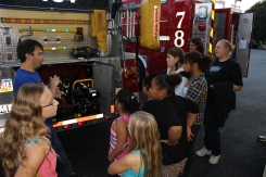 Tamaqua Salvation Army Youth Group Visits South Ward Fire Company, Tamaqua, 10-8-2015 (29)