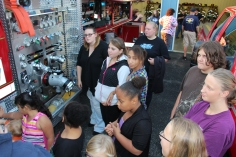 Tamaqua Salvation Army Youth Group Visits South Ward Fire Company, Tamaqua, 10-8-2015 (3)