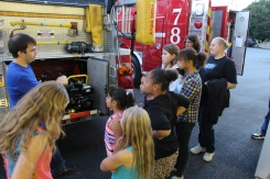 Tamaqua Salvation Army Youth Group Visits South Ward Fire Company, Tamaqua, 10-8-2015 (30)