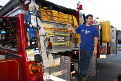 Tamaqua Salvation Army Youth Group Visits South Ward Fire Company, Tamaqua, 10-8-2015 (32)