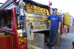 Tamaqua Salvation Army Youth Group Visits South Ward Fire Company, Tamaqua, 10-8-2015 (33)