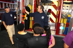 Tamaqua Salvation Army Youth Group Visits South Ward Fire Company, Tamaqua, 10-8-2015 (36)