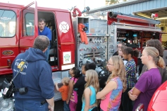 Tamaqua Salvation Army Youth Group Visits South Ward Fire Company, Tamaqua, 10-8-2015 (4)