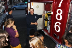 Tamaqua Salvation Army Youth Group Visits South Ward Fire Company, Tamaqua, 10-8-2015 (40)