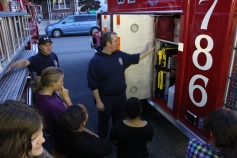 Tamaqua Salvation Army Youth Group Visits South Ward Fire Company, Tamaqua, 10-8-2015 (42)
