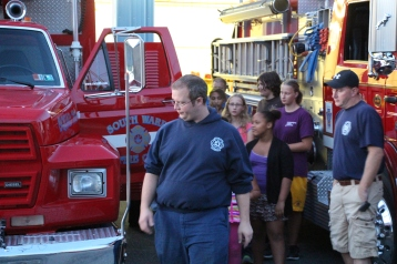 Tamaqua Salvation Army Youth Group Visits South Ward Fire Company, Tamaqua, 10-8-2015 (47)