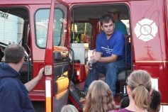 Tamaqua Salvation Army Youth Group Visits South Ward Fire Company, Tamaqua, 10-8-2015 (5)