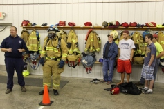 Tamaqua Salvation Army Youth Group Visits South Ward Fire Company, Tamaqua, 10-8-2015 (60)