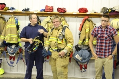 Tamaqua Salvation Army Youth Group Visits South Ward Fire Company, Tamaqua, 10-8-2015 (62)