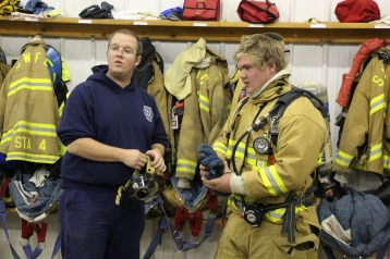 Tamaqua Salvation Army Youth Group Visits South Ward Fire Company, Tamaqua, 10-8-2015 (65)